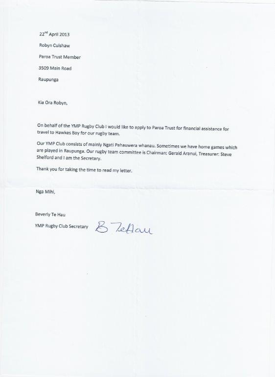 ymp rugby thanks letter 2013